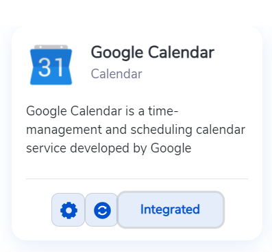 How your calendar tab will look after the Rafiki integration is successful.